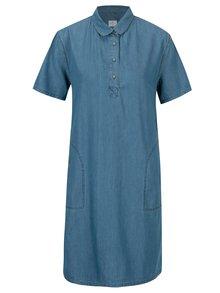 Modré šaty s vreckami Cross Jeans
