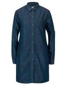 Tmavomodré košeľové šaty Cross Jeans