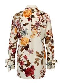 Camasa crem cu print floral Dorothy Perkins