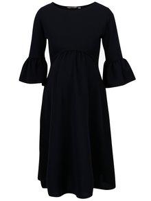 Modré těhotenské šaty s volány na rukávech Dorothy Perkins Maternity
