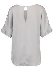 Bluza asimetrica violet deschis cu aplicatii Dorothy Perkins