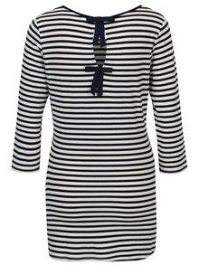 Bluza cu dungi bleumarin & crem si funde pentru femei insarcinate - Dorothy Perkins Maternity