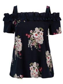 Bluza bleumarin cu print floral Dorothy Perkins Curve