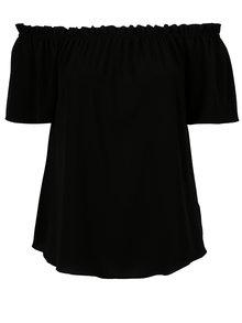 Čierna blúzka s odhalenými ramenami Dorothy Perkins Curve