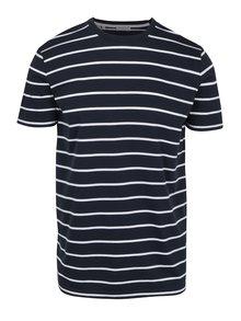 Tmavě modré pruhované tričko Selected Homme Max