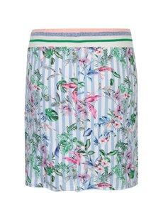 Bílo-modrá květovaná sukně s kapsami Rich & Royal