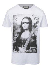 Bílé tričko s potiskem Shine Original Rebel