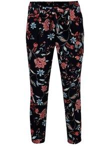 Pantaloni bleumarin cu print floral si talie inalta - Dorothy Perkins