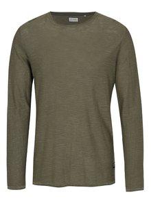 Zelené melírované tričko s dlhým rukávom Shine Original