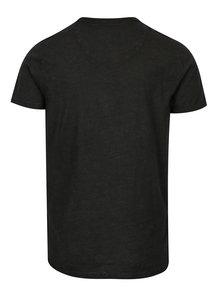 Černé pánské tričko s náprsní kapsou Garcia Jeans Rico