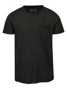 Tricou negru cu buzunar pentru barbati - Garcia Jeans Rico