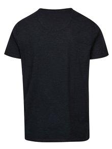 Modré pánské tričko s véčkovým výstřihem Garcia Jeans Marco
