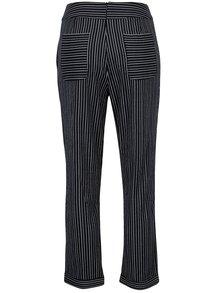 Tmavomodré skrátené pruhované nohavice Yerse