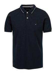 Tmavě modré pánské slim fit polo tričko s.Oliver