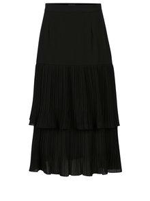 Čierna plisovaná midisukňa Yesre