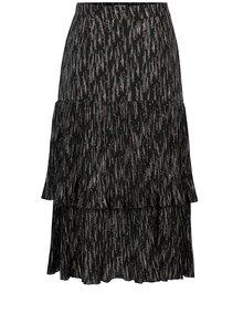 Tmavosivá vzorovaná plisovaná sukňa Yesre