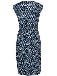 Rochie alb & albastru cu aplicatie metalica - Mela London