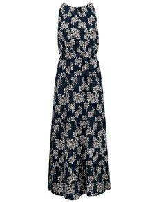 Rochie maxi bleumarin cu print floral - Mela London
