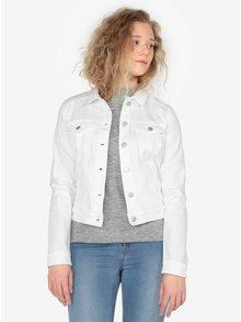 Jacheta scurta alba din denim pentru femei - QS by s.Oliver