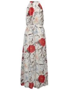 Bílé květované maxišaty s páskem Mela London