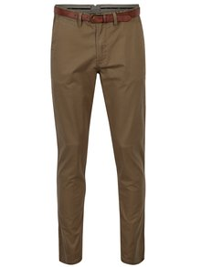 Pantaloni chino maro cu curea - Jack & Jones Spencer