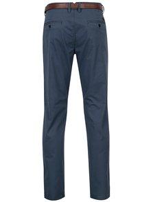 Pantaloni chino albastri cu curea - Jack & Jones Spencer