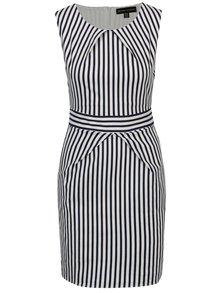 Modro-biele pruhované šaty s opaskom Mela London