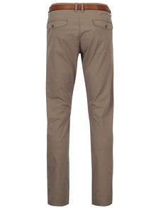 Pantaloni bej chino slim fit cu curea pentru barbati - s.Oliver