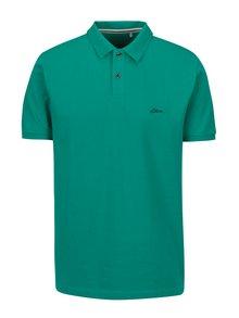 Zelené pánské regular fit polo tričko s logem s.Oliver