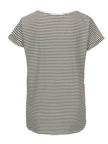 Krémovo-modré pruhované tričko s krátkym rukávom Yerse