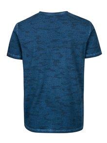 Tricou bleumarin slim fit cu print geometric pentru barbati -  s.Oliver