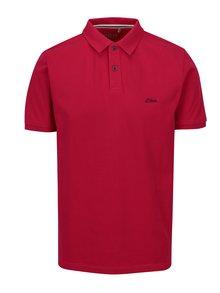 Tricou polo regular fit roz pentru barbati - s.Oliver