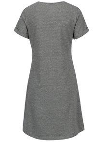 Čierne kockované šaty s vreckami Yerse