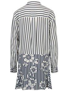 Modro-biela pruhovaná košeľa so zaväzovaním Yesre