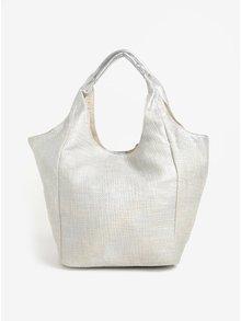 Geanta shopper argintie cu portfard Yesre