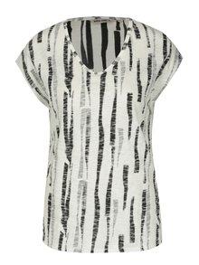 Čierno-krémové dámske vzorované tričko Gracia Jeans