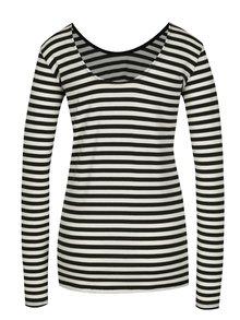 Bluza negru&crem in dungi pentru femei - Garcia Jeans