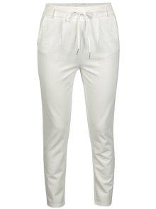 Pantaloni albi cu talie elastica - ONLY Poptrash