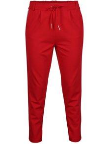 Pantaloni rosii cu dungi laterale - ONLY Poptrash