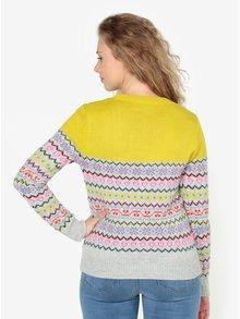Žluto-šedý vzorovaný svetr Oasis Fairisle