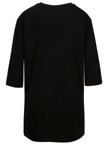 Čierna dlhé tričko s nášivkou Yerse