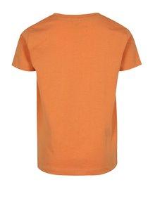 Oranžové klučičí tričko s potiskem ponorky name it Mike