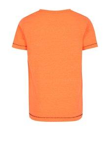 Neónovooranžové chlapčenské tričko s potlačou name it Zommy