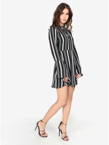Sandale negre glossy cu toc inalt - MISSGUIDED