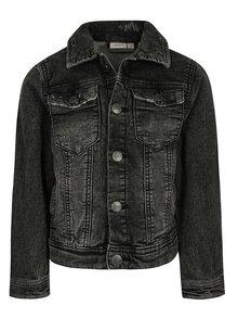 Tmavě šedá klučičí džínová bunda s potrhaným efektem name it Ton