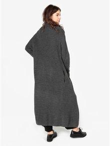 Cardigan gri lung cu model tricotat  - MISSGUIDED