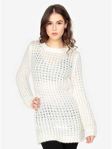 Krémový dlhý sveter MISSGUIDED