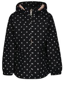 Tmavomodrá dievčenská vzorovaná bunda s kapucňou name it Mello