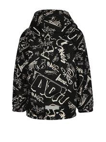 Čierna chlapčenská vzorovaná bunda s kapucňou name it Mellon