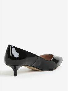 Pantofi negri de lac cu toc kitten - OJJU